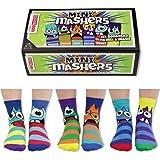 Oddsocks Mini Mashers - Juego de calcetines (6 unidades, talla 27-30,5