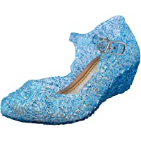 Tyidalin Ballerina Scarpe Ragazza Principessa Costume Ballet Slipper Tacco Festive per 3 a 12 Anni Blue EU28-33