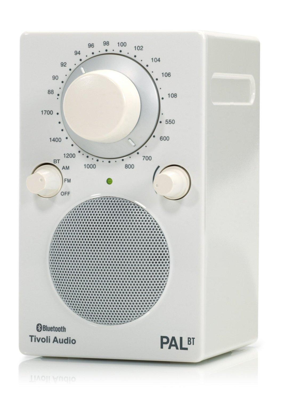 Tivoli Audio PALBTGW PAL BT Bluetooth Portable AM/FM Radio (High Gloss White/White) Color: White Si