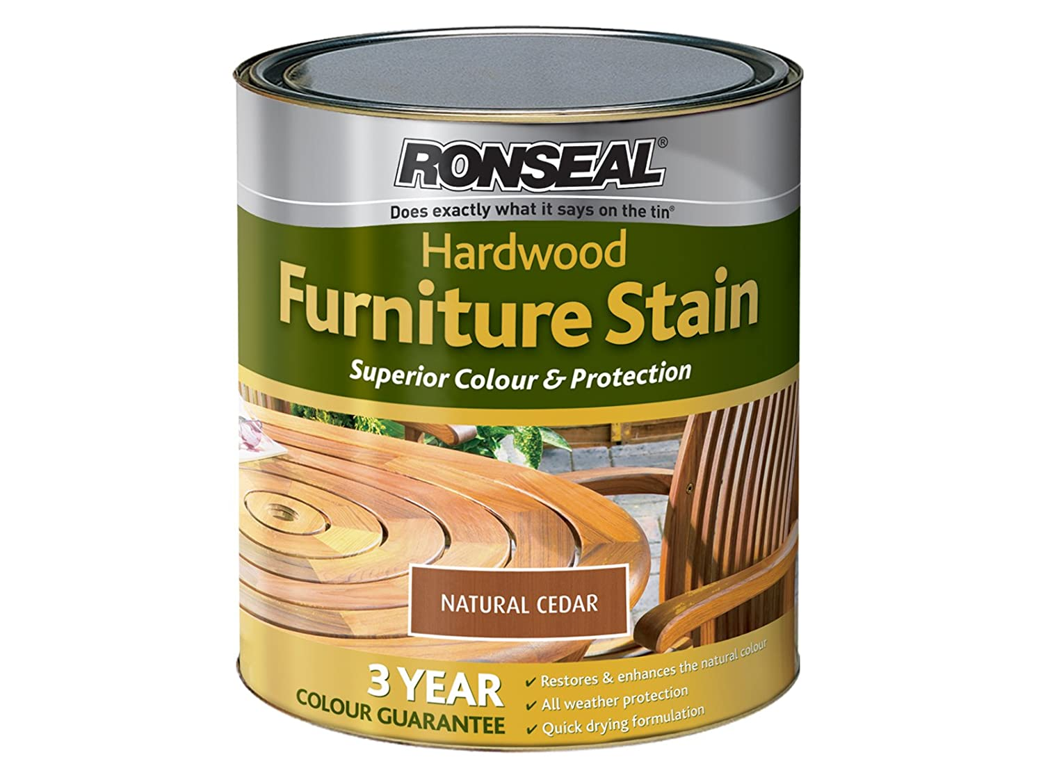 ronseal hfont1l 1l hardwood furniture oil natural teak amazoncouk diy tools