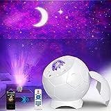 Fezax Proiettore Stelle, Romantica luce stellata con altoparlante Bluetooth e suono attivato, Proiettore Nebula Galaxy Light,