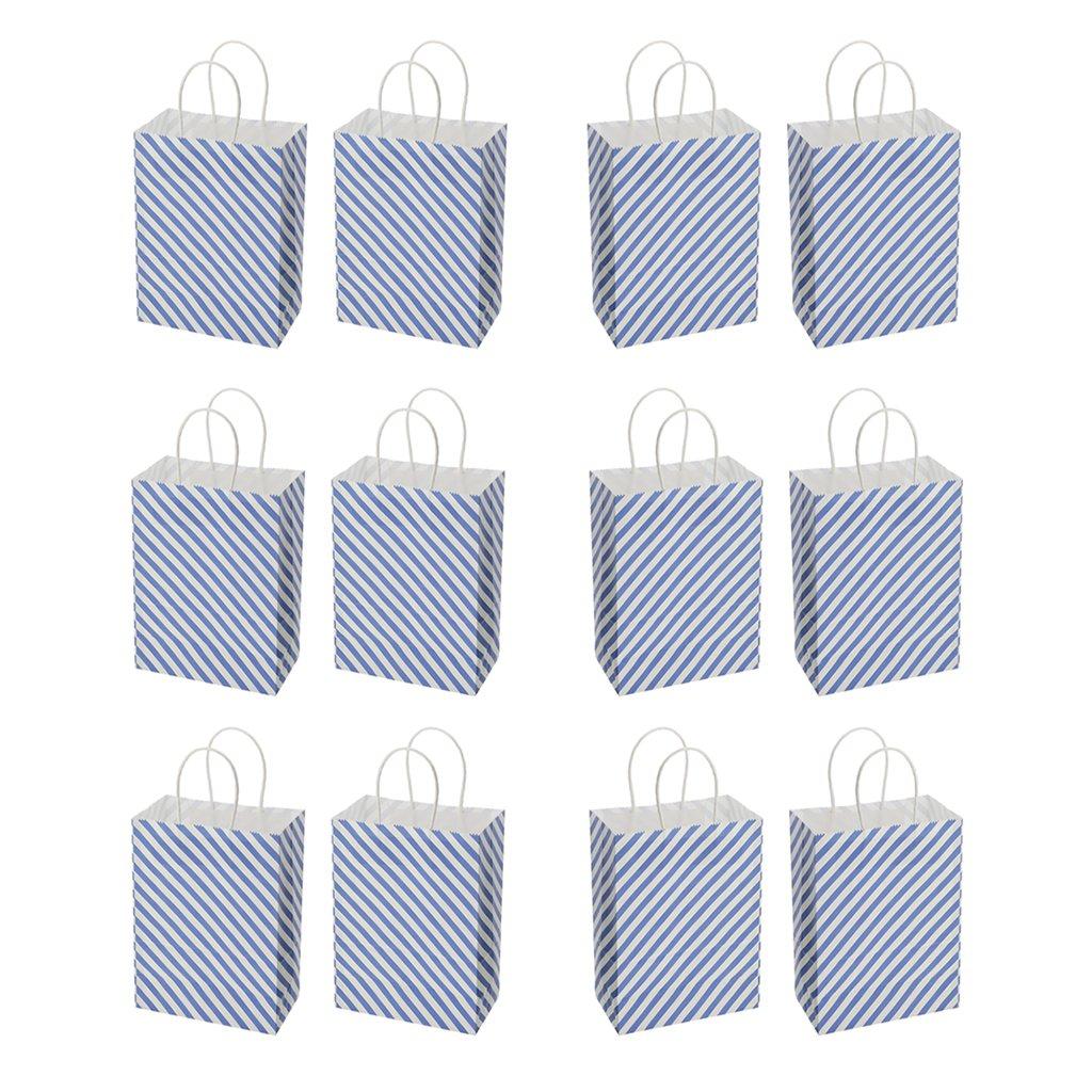 MagiDeal 12 Pezzi Sacchetti Di Regalo Di Carta Borsetta Di Compleanno Cerimonia Nuziale Paper Party