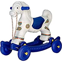 TD 2 in 1 Baby Horse Rider for Kids 1-5 Years Birthday Gift (Blue)