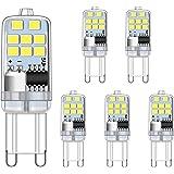 Ampoule LED G9 2W Blanc Froid du jour 6000K équivalent aux ampoules halogènes 15W 20W, sans scintillement Ampoules G9, non di