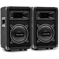 """auna Pro PW - Passive PA-Lautsprecher PA-Boxen, 2er-Set: 2 x PA-Box, 2-Wege-Lautsprecher: 16,5 cm (6,5"""") Subwoofer/Horn…"""
