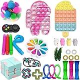Juego de 30 juguetes de TIK Tok Fidget Sensory Fidget Toys Push Bubble Pop Juguete de alivio de la ansiedad para ADD OCD Auti