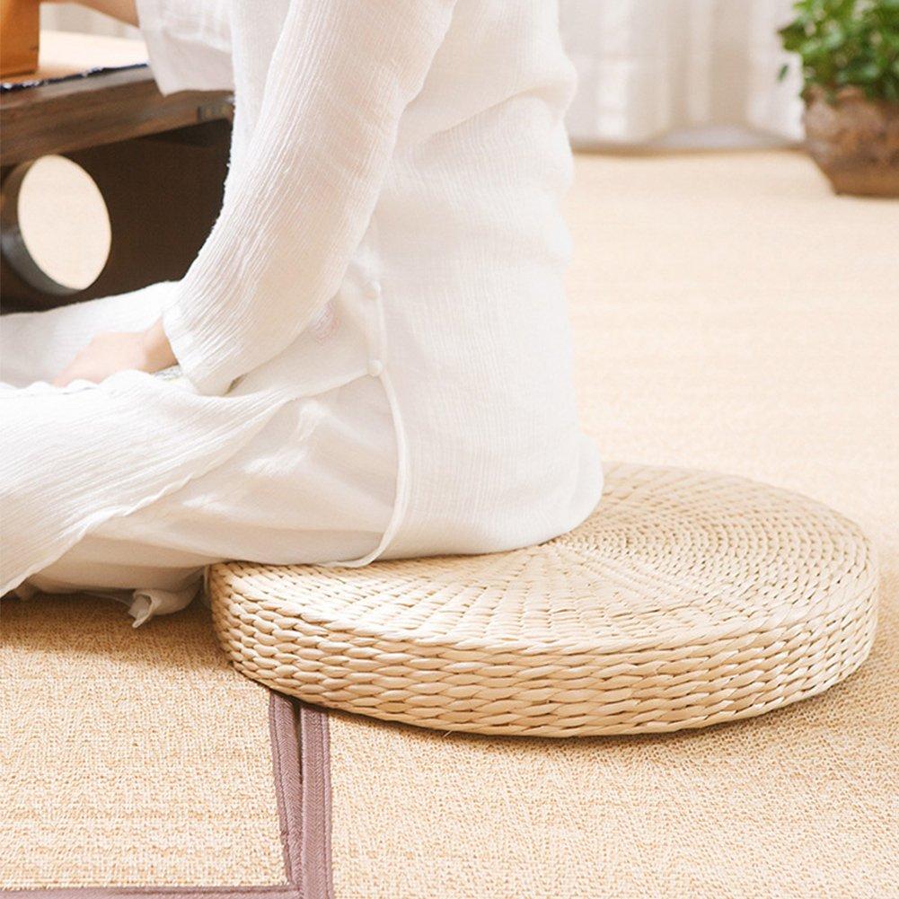 Gezichta Cuscino In Paglia Intrecciata Rotondo Tatami Per Yoga Decorazione Per Sala Da Pranzo O Giardino You Combat