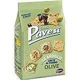 Gran Pavesi Cracker Le Sfoglie alle Olive, Cotte al Forno, Senza Olio di Palma, 150 g