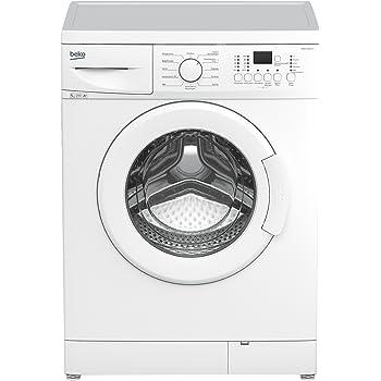 Beko WML 51431 E Waschmaschine Frontlader / A+ / 1400 UpM / 5 kg / weiß / Großes Programmauswahl / Nur 45 cm Tiefe / Multifunktionsdisplay / Express - Programm / Mengenautomatik / Unterbaufähig [Altes Modell]