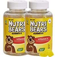 NutriBears Children's Vitamin D Gummies for Kids and Teens, 2 Pack, Promotes Positive Mood and Enhances Calcium…