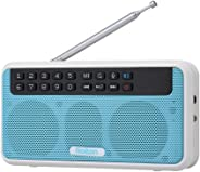 Rolton E500 Wireless Bluetooth Speaker 6W HiFi Stereo Music Player Portable Digital FM Radio w/Flashlight LED Display Mic Su