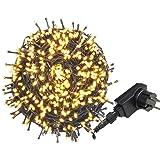 AUFUN LED Lichterkette Außen Bunt Außenlichterkette Weihnachtsbeleuchtung Wasserdicht IP44 mit 8 Leuchtmodi für Hochzeit,Party,Garten (100m,1000LEDs,WarmWeiß)