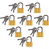 8 Stks Klein hangslot met sleutels, Bagage hangslot, Kleine koffer Lock voor bagage, Reistassen Rugzak Computer Bag (Messing)