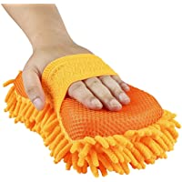 EVERYONIC™ 2 in 1 Microfiber Car Washing Gloves Car Cleaning Sponge Car Window Cleaning Brush (Random color)