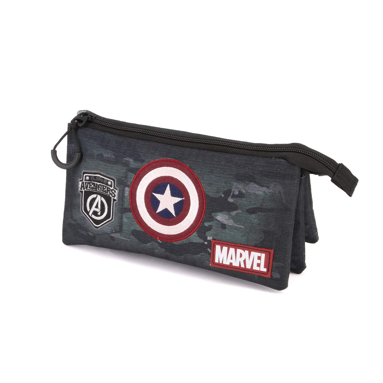 Karactermania Captain America Army astuccio Portatutto Triplo HS Estuches 24 Centimeters Multicolor (Multicolour)