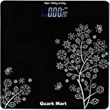 QUARK MART Heavy Thick Tempered Glass LCD Display Digital Personal Bathroom Health Body Weight Weighing Scales For Body Weigh