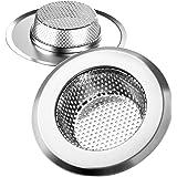 Helect 2 Pack Aanrechtzeef Roestvrij Staal, Alleen Geschikt voor Spoelbakgaten met Diameters> 60 mm en Diepten> 25 mm
