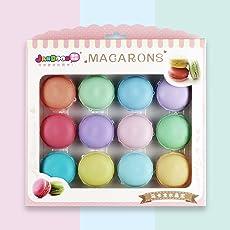 QQPOW Kristall Schlamm Macarons Schleim Kit Kristall Schlamm Lehm Schlamm Lehm Kit DIY Spiele für Kinder Handgemachte Spielzeug 12 stücke