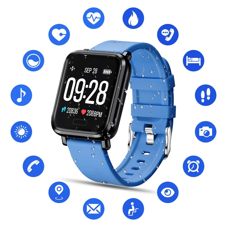 Tipmant Reloj Inteligente Mujer Hombre Smartwatch Pulsera de Actividad Inteligente Impermeable IP68 Pulsómetros… 1