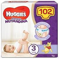 HUGGIES Pannolino Mutandina Taglia 3 (6-11Kg), 1 Confezione da 102 Pannolini - 3020 Gr