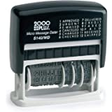 2000 PLUS 12-in-1 Self-Inking Date and Phrase Stamp, REC'D, ANS'D, ENT'D, PAID, BAL, CHG'D, SHIP'D, RET'D, C.O.D, CANC, FILLE
