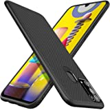 Lenuo Samsung Galaxy M31 Case - High Protraction - Anti fall Shockproof TPU - Ultra-thin - Stripe Texture Cover (black)