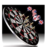 supreme deals quality heavy metal wiring steel tip double faced flock printing thickening family game dart board with 6…