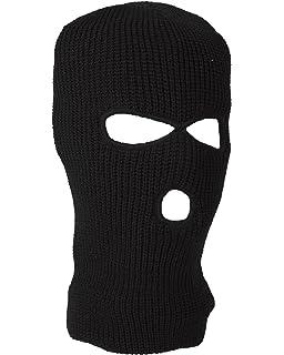 Kombat UK Military Action Winter Knitted 3 Hole Balaclava Face Mask In Black