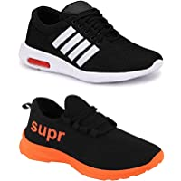 WORLD WEAR FOOTWEAR Men Multicolour Latest Collection Sports Running Shoes-Pack of 2 (Combo-(2)-9063-9209)