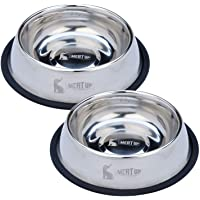 Meat Up Stainless Steel Dog Feeding Bowl, Medium - 700ml (Buy 1 Get 1 Free)