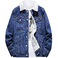 DAY8 Cappotto Jeans Imbottito Pelliccia Uomo Giacca Denim Oversize Uomo Tendenza Giubbotto Uomo Autunno Invernale Manica…