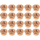 20Pcs M10 Exhaust Manifold Hex Nuts Copper Plated Hex Self Locking Nut With Flange 18301737774 Car Replacement Parts