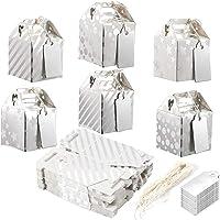 Mini-boîtes à souvenirs pour invités Best Paper Greetings (lot de 36) avec plaques et ficelles assorties - 6 motifs…