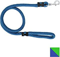 PetSutra Durable Rope Training Leash for Small, Medium & Large Sized Dogs, with Strong Brass Hook Multi Size & Multi Colored (22MM, Blue)