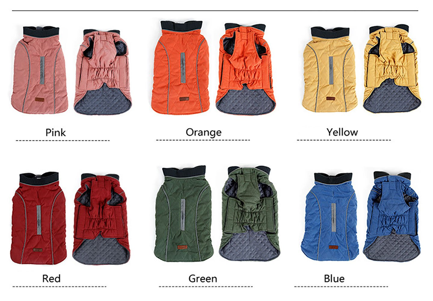Cold Winter Dog Pet Coat Jacket Vest Warm Outfit Clothes for Small Medium Large Dogs 6