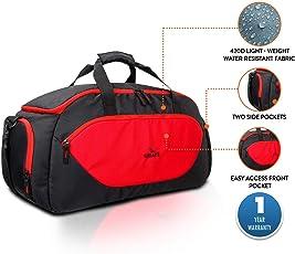 Lunar's Storm 58 cm Large Travel Duffel Bag (Black-Red)
