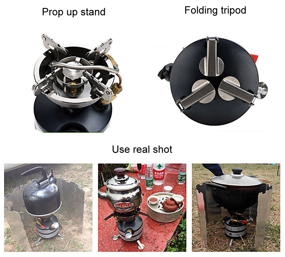 BRS-12A One-Piece Multi-fuel Camp Stoves for Cookout BBQ Camping Fishing Picnic 2-3 Field Operations 3