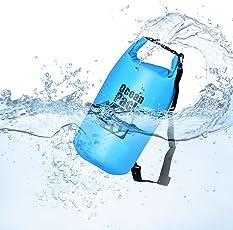 Dry Bag/Wasserdichter Trockenbeutel Queta(10L/Blau) total wasserfeste Tasche Ideal für Boot und Kajak, Angeln, Rafting, Schwimmen, Camping und Snowboarden Schützt Deine Wertsachen und Kleidung vor Wasser, Sand, Staub und Schmutz