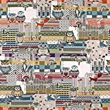 Fabulous Fabrics Jacquard Fuchs & Eule - Meterware ab 0,5m