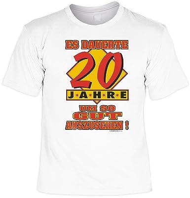 Großartig Shoppen Sie Zum 20 Geburtstag Lustiges Geburtstags T Shirt : Es Dauerte 20  Jahre Um So Gut Auszusehen! Mit Gratis Urkunde ! Auf Amazon.de:T Shirts