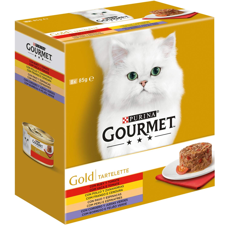 Purina Gourmet Gold Tartalette comida para gatos Surtido 8 x 85