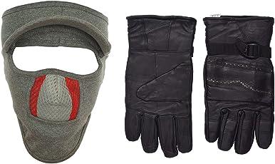 H-Store Balaclavas Mask Unisex Lycra Face Mask Anti Pollution Dust Sun Protecion Face Cover Mask With Black Winter Gloves/ Bike Gloves/ Biker Gloves/ Motorcycle/ Bike Racing/ Riding/ Gym / Fitness / Full Fingers Gloves Best Grip For Men Women