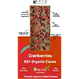 Nepenthe Coffee and Chocolates Keto Culture Sugar-Free/Unsweetened Cranberries Dark Chocolate, 60 g