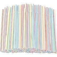 SHINEHUA 100pc Pailles Flexiblesen Pailles Colorées, Adaptées à Diverses Boissons, Cocktails, Smoothies, Adultes Et…