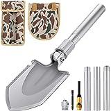 Klappspaten Multifunktional-Klappschaufel rostfreier Stahl, Länge: 43-75 cm Abnehmbar Schaufel für Überleben/Garten…