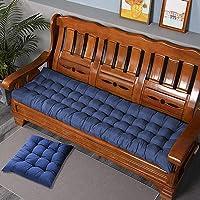 LRuismei Coussin de banc de jardin rectangulaire épais de 8 cm pour 2 ou 3 places, en coton, pour chaise longue ou…