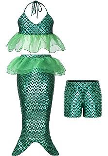 Freebily Sirenetta Costume Bambina Sirena Vestito Neonata Fotografia Prop Neonata Foto Puntelli Pagliaccetto Carnevale Halloween Principessa Tutu Bambina Neonata Fascia