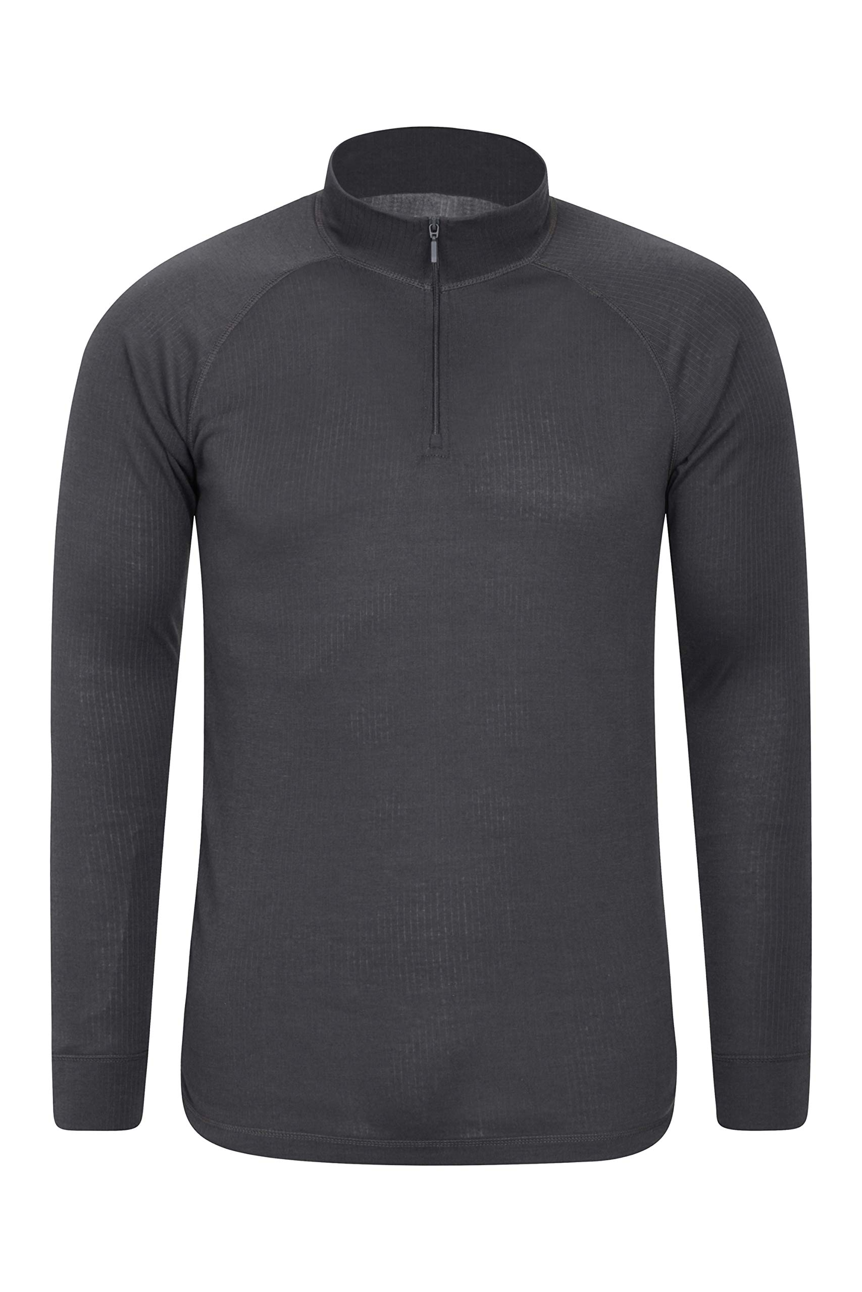 Mountain Warehouse Talus Mens Thermal Baselayer Top - Long Sleeve Sweater, Zip Neck, Quick Drying Pullover, Breathable, Lightweight - Great for Winter, Travelling 1