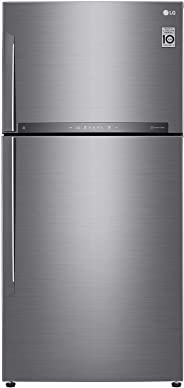 LG 630 Litres Top Mount Refrigerator with Linear cooling, Shiny Steel - GR-H832HLHU