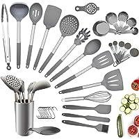 Charlemain Ustensiles de Cuisine en Silicone, 35pcs Ustensiles de Cuisine Antiadhésive, Set de Cuisine Anti-Rayure…